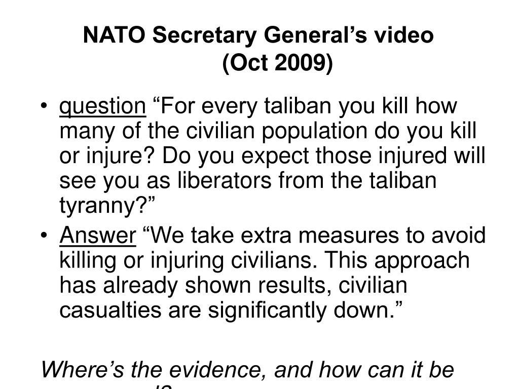 NATO Secretary General's video