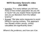 nato secretary general s video oct 2009