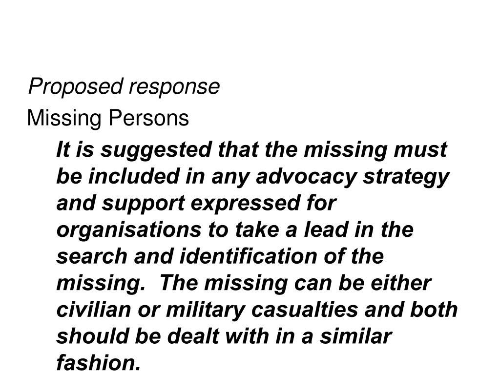 Proposed response