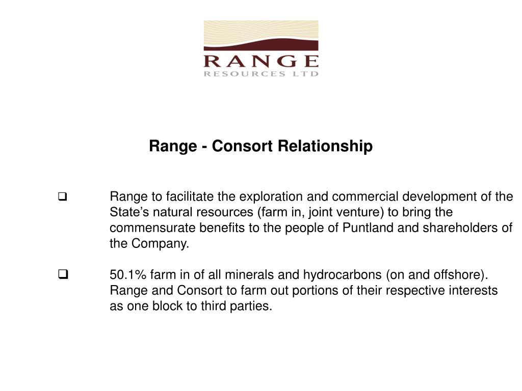 Range - Consort Relationship