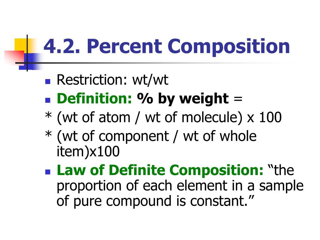 4.2. Percent Composition