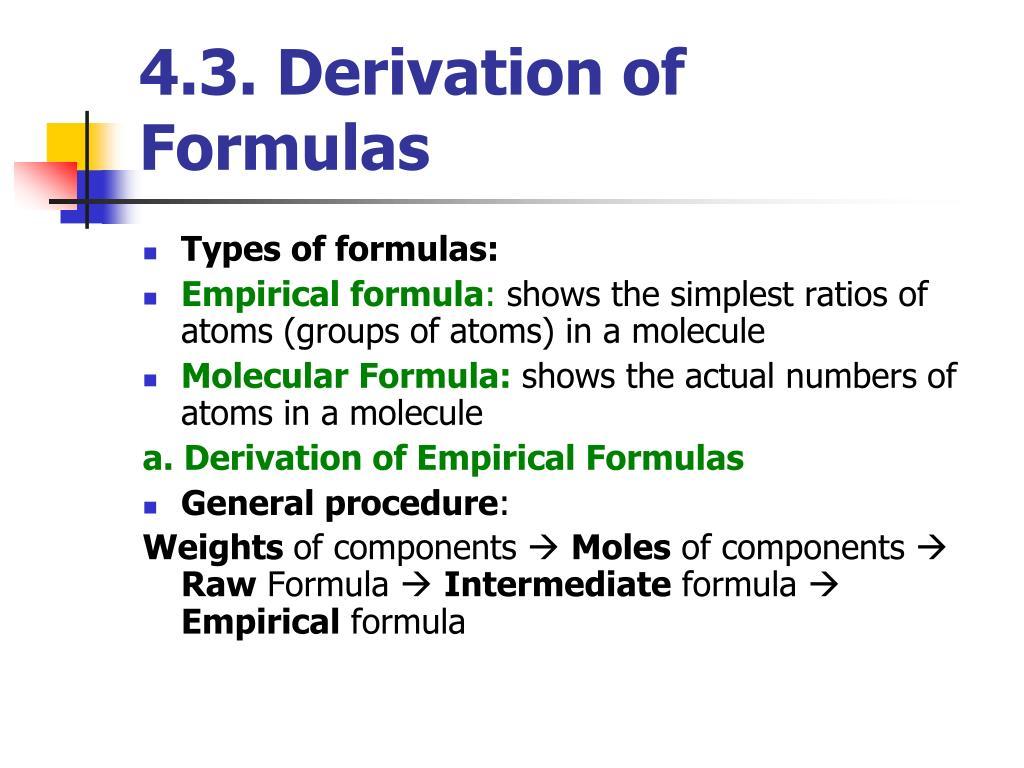 4.3. Derivation of Formulas