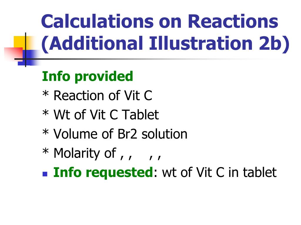 Calculations on Reactions (Additional Illustration 2b)