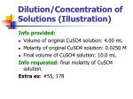 dilution concentration of solutions illustration