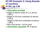 ef mf example 3 using results of reactions 120 pg 128