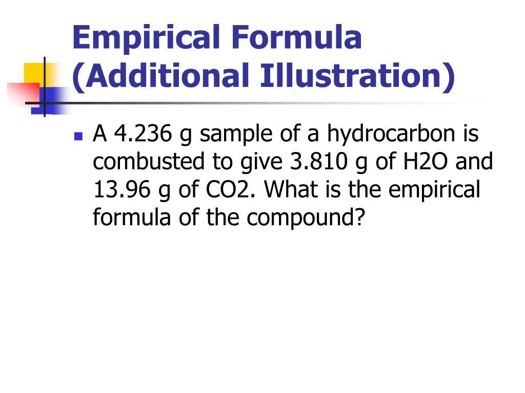 Empirical Formula (Additional Illustration)