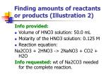 finding amounts of reactants or products illustration 2