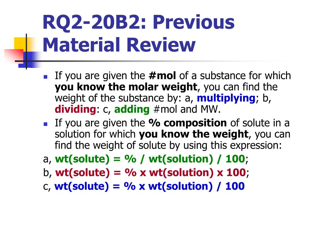 RQ2-20B2: Previous Material Review