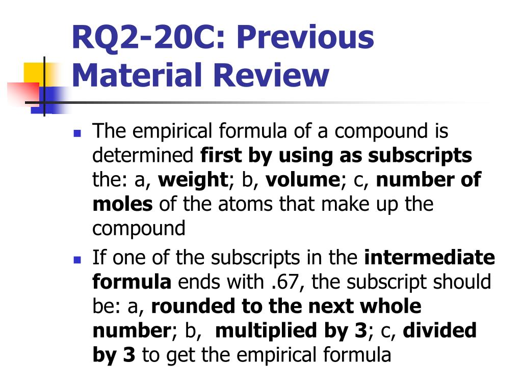 RQ2-20C: Previous Material Review