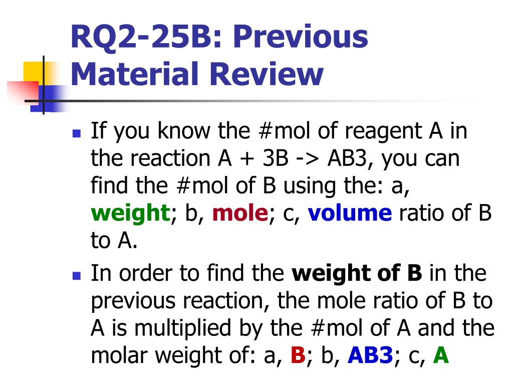 RQ2-25B: Previous Material Review