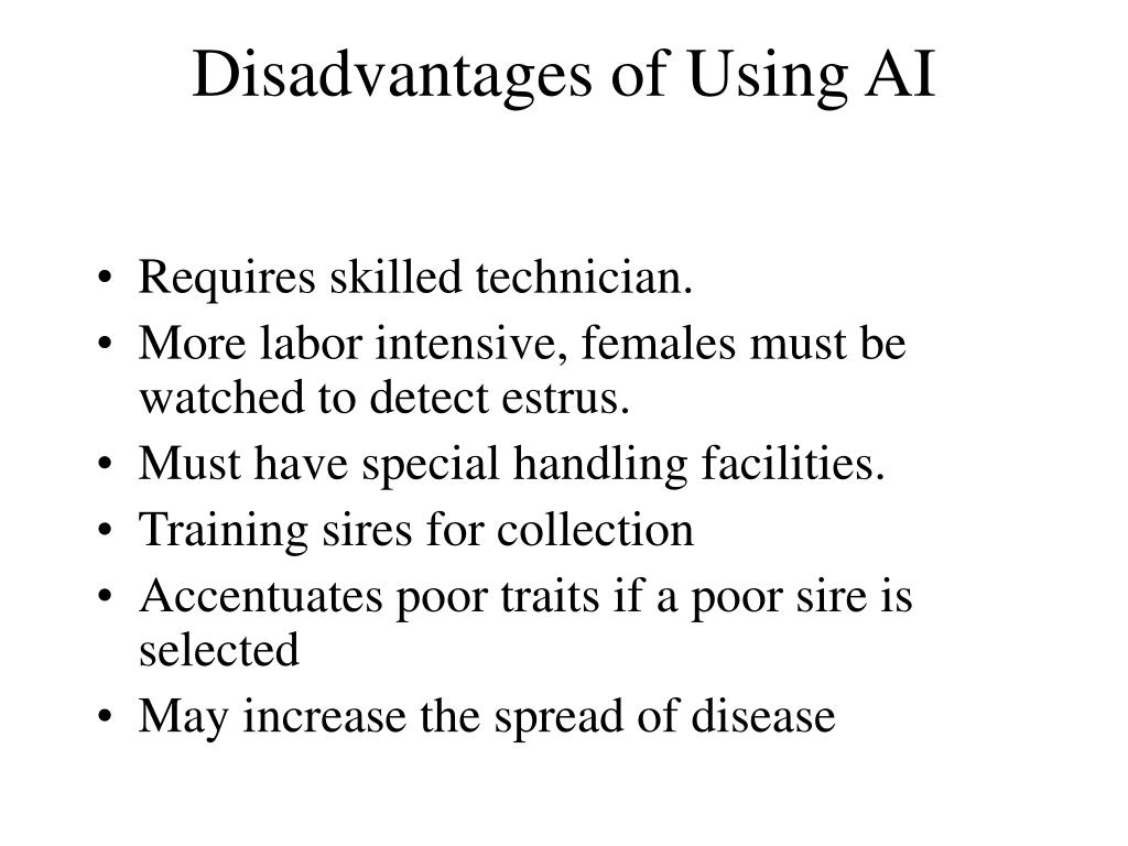 Disadvantages of Using AI