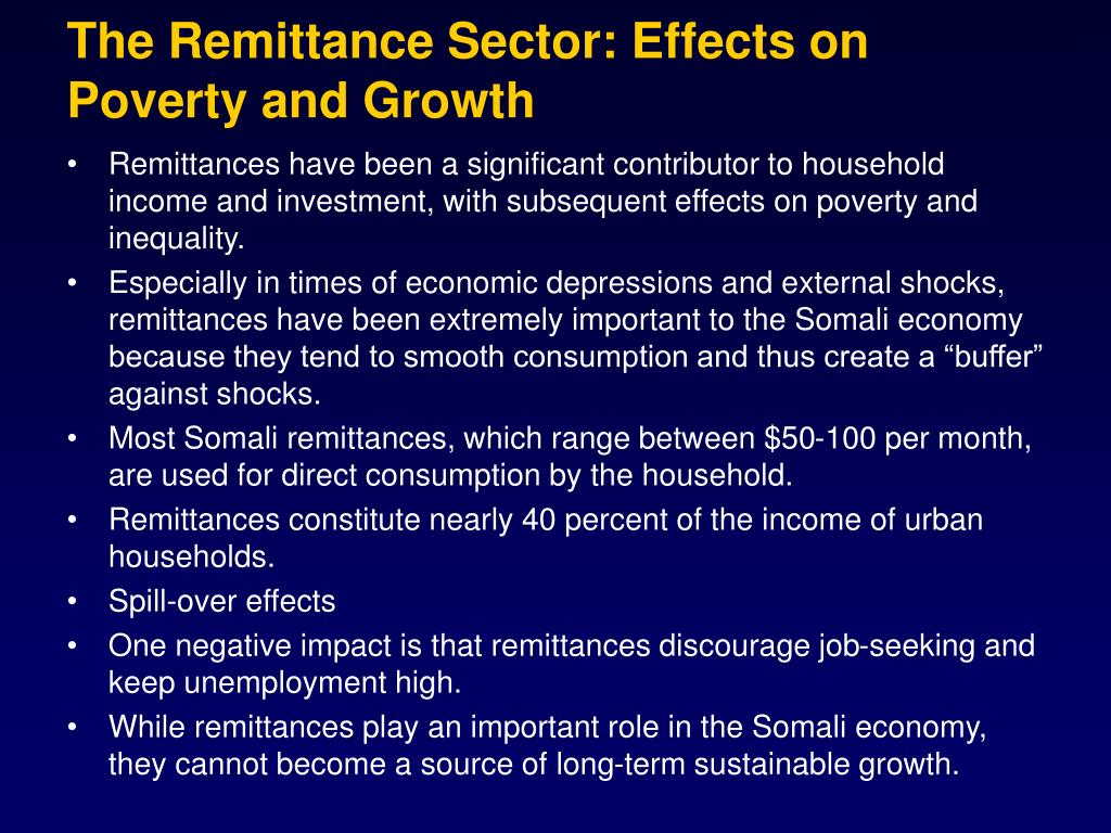 The Remittance Sector: Effects on Poverty and Growth