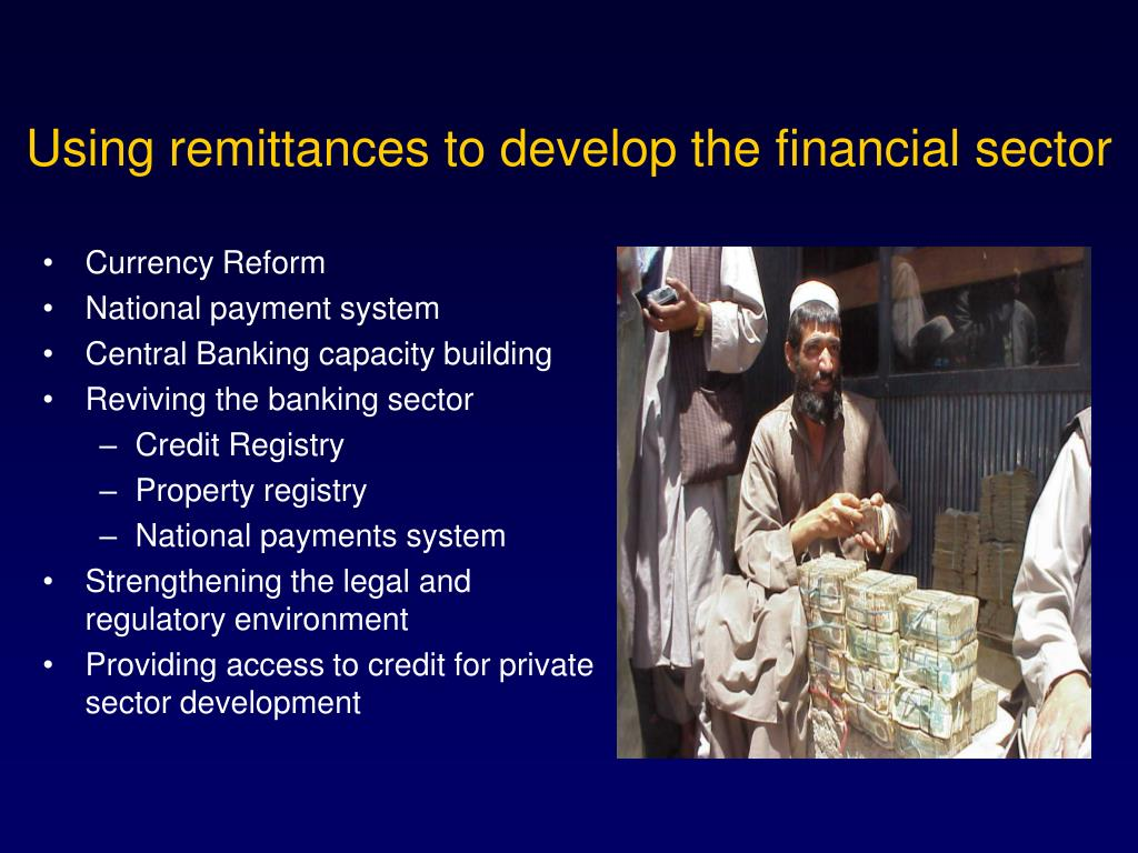 Using remittances to develop the financial sector