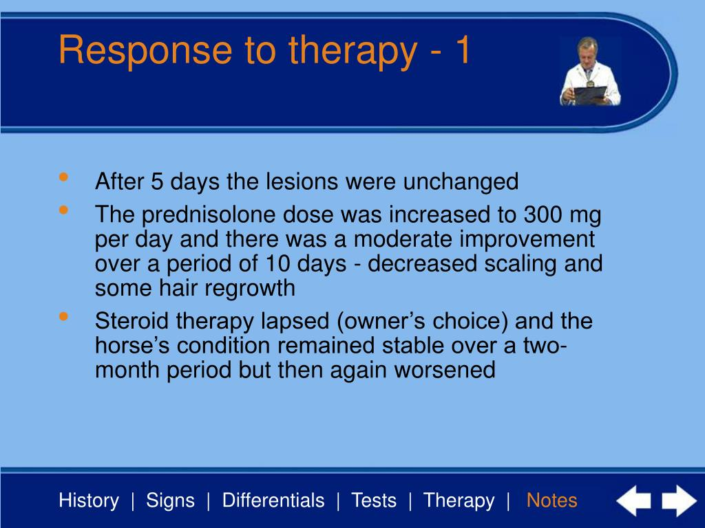 Response to therapy - 1