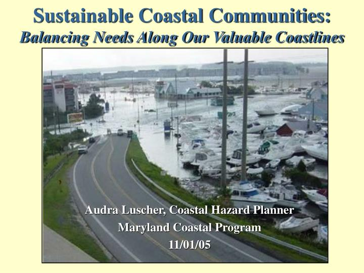 Sustainable Coastal Communities: