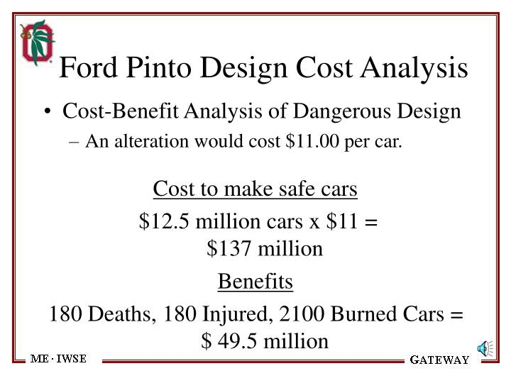 Ford Pinto Design Cost Analysis