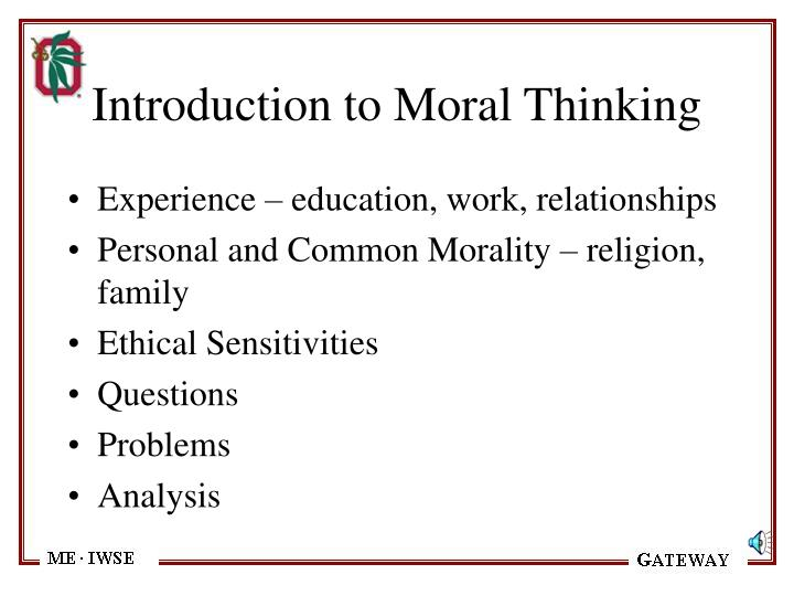 Introduction to Moral Thinking