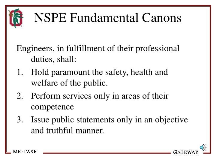 NSPE Fundamental Canons