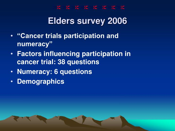 Elders survey 2006
