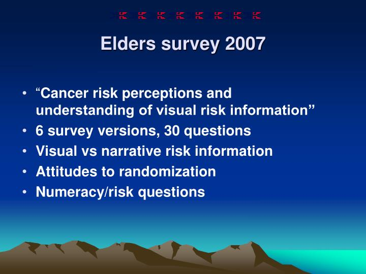 Elders survey 2007