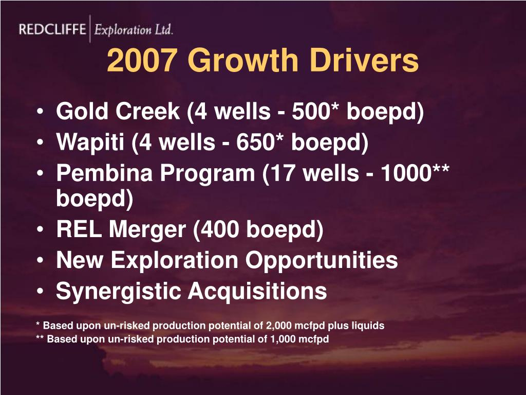 2007 Growth Drivers