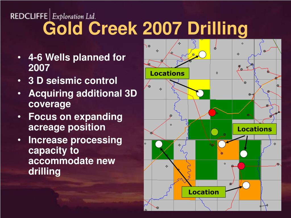 Gold Creek 2007 Drilling