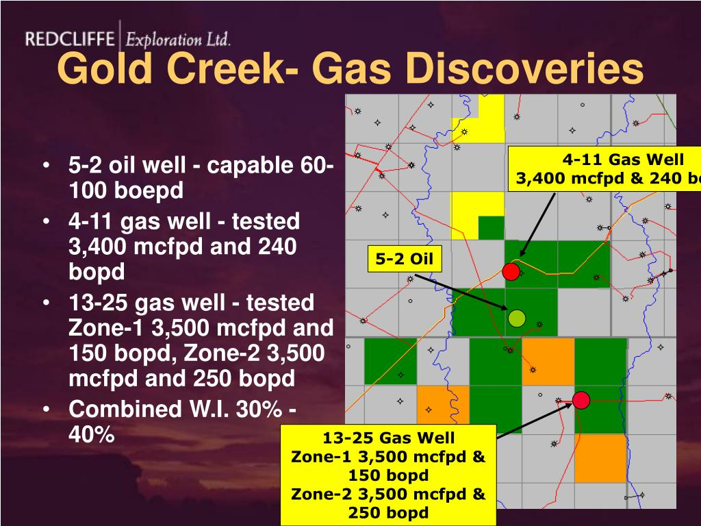 Gold Creek- Gas Discoveries