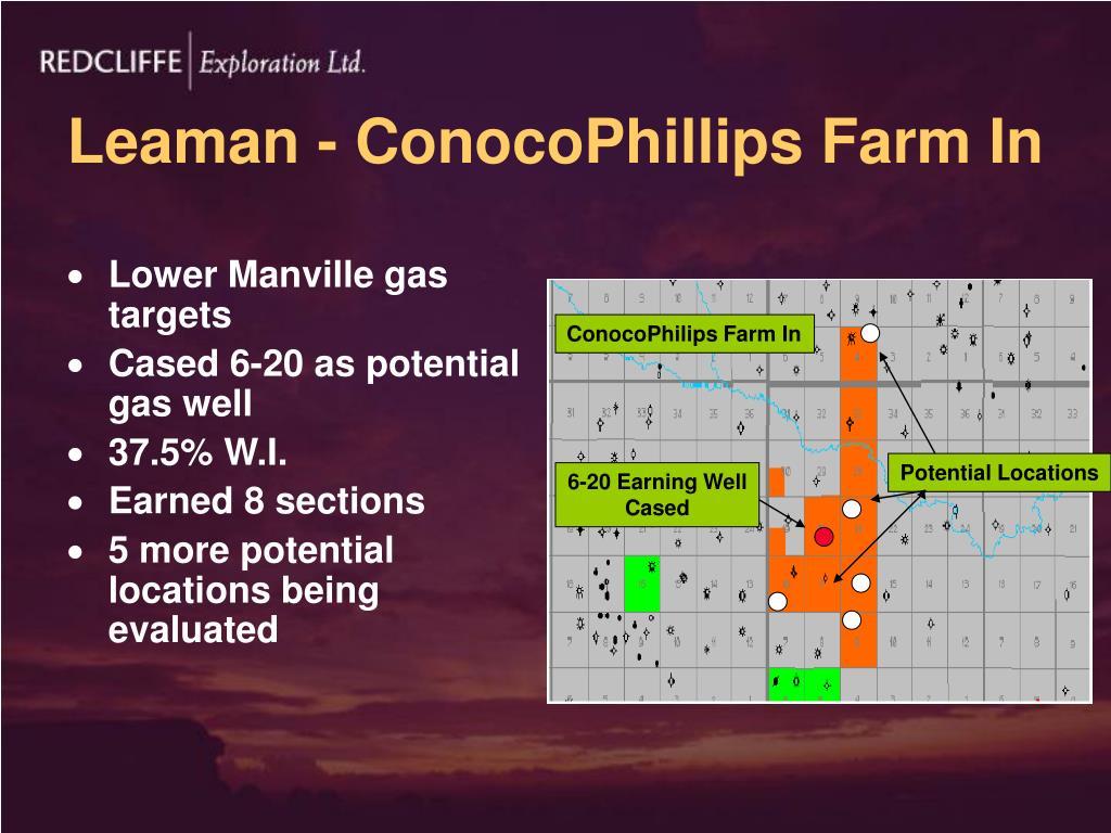 Leaman - ConocoPhillips Farm In