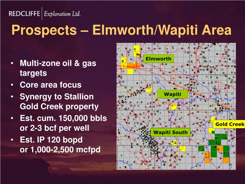 Prospects – Elmworth/Wapiti Area