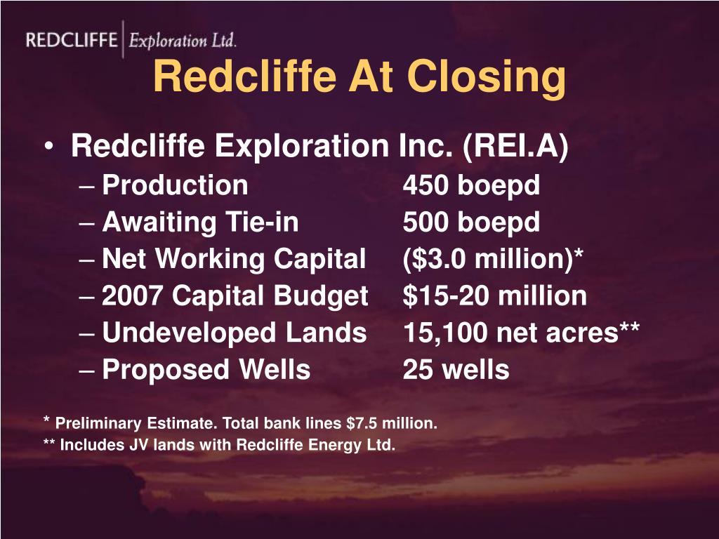 Redcliffe At Closing