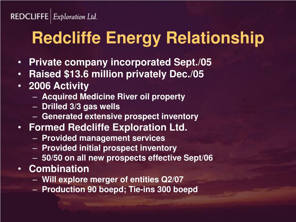 Redcliffe Energy Relationship