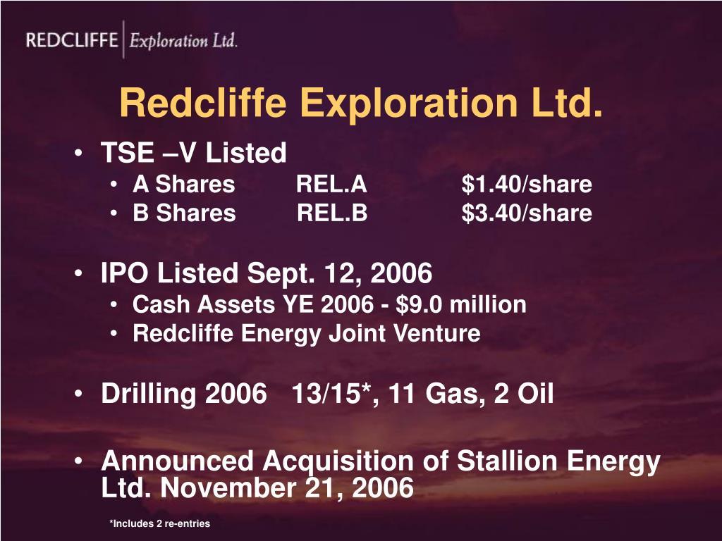 Redcliffe Exploration Ltd.