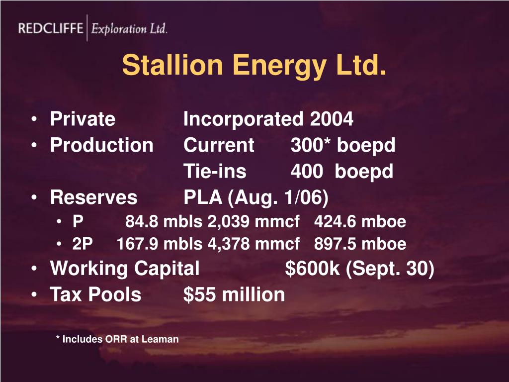 Stallion Energy Ltd.