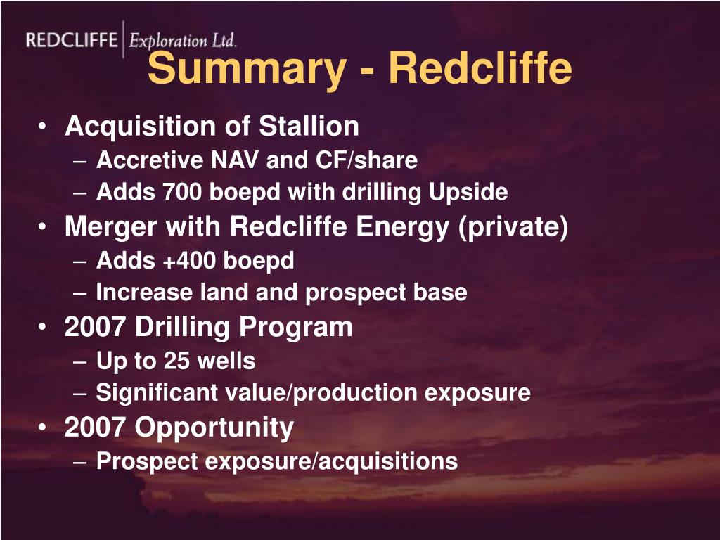 Summary - Redcliffe