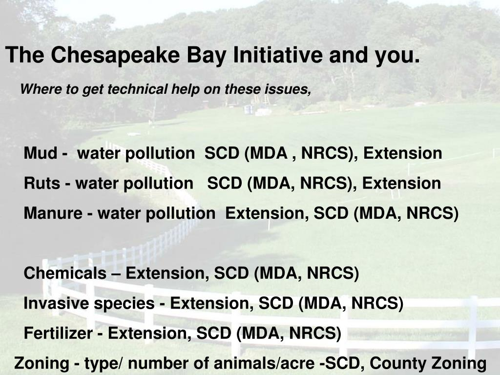 The Chesapeake Bay Initiative and you.