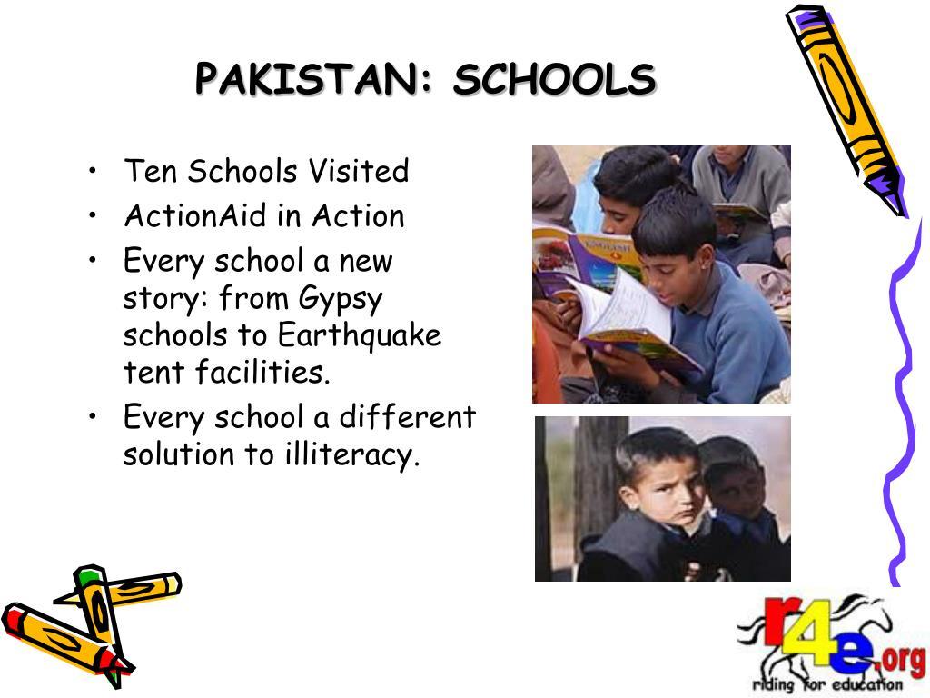 PAKISTAN: SCHOOLS