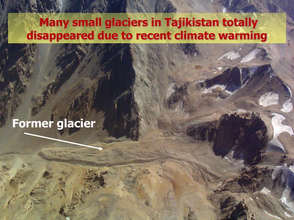 Many small glaciers in Tajikistan