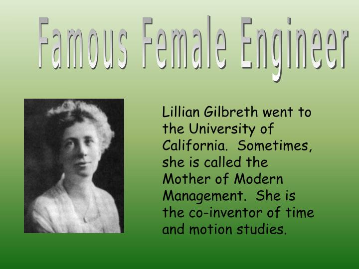 Famous Female Engineer