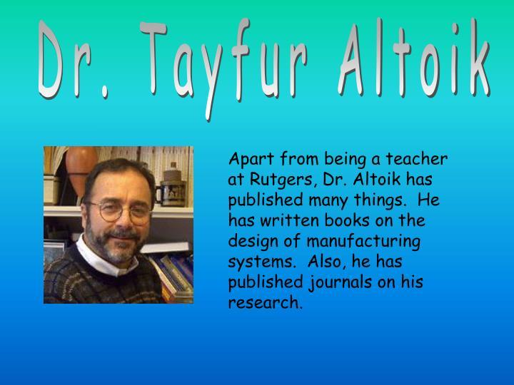Dr. Tayfur Altoik
