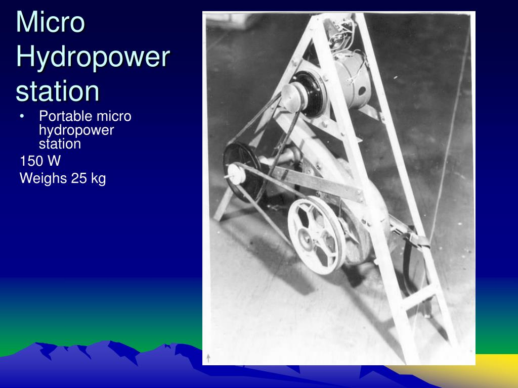 Micro Hydropower station