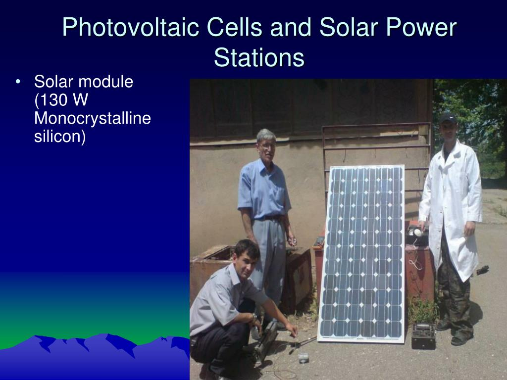 Photovoltaic Cells and Solar Power Stations