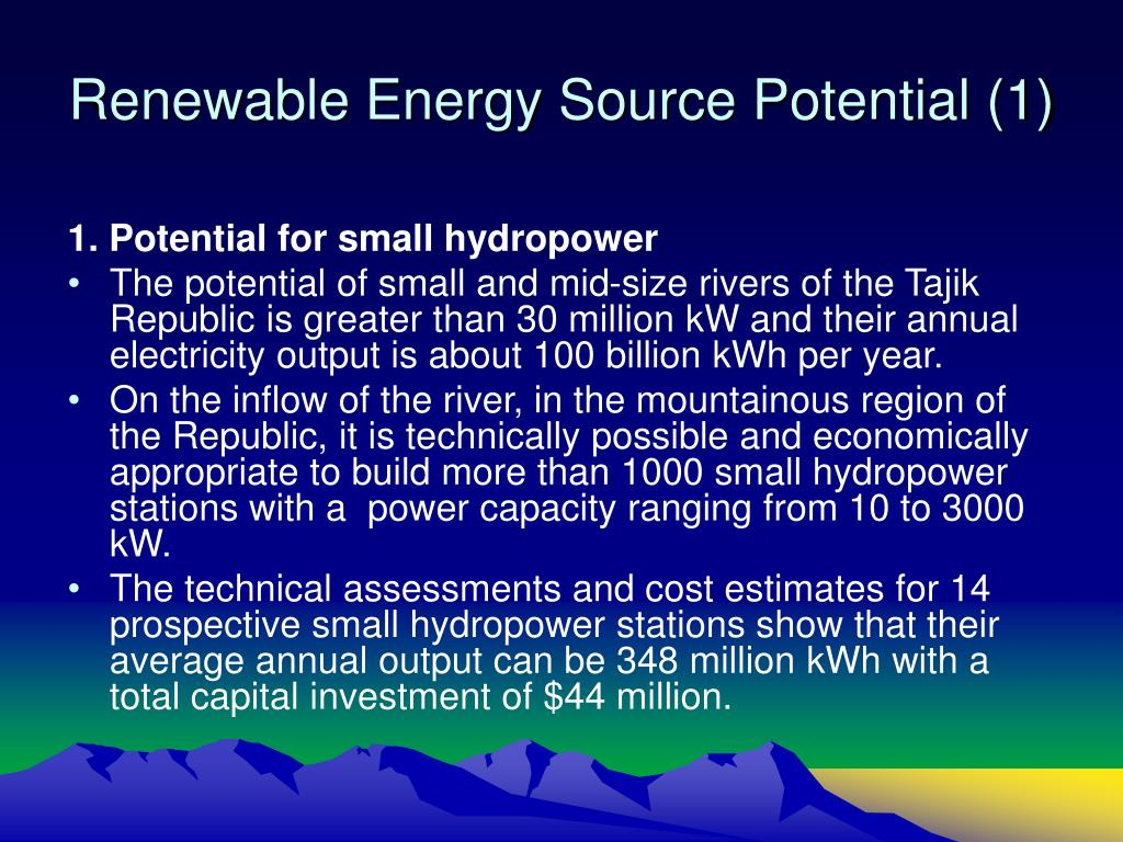 Renewable Energy Source Potential (1)