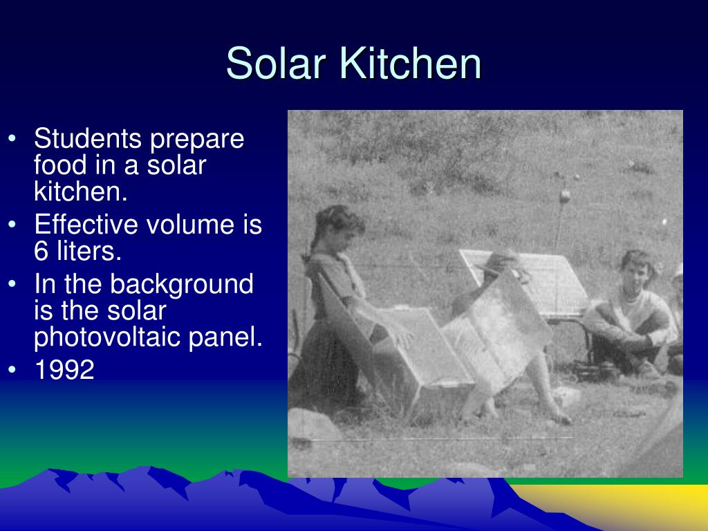 Solar Kitchen