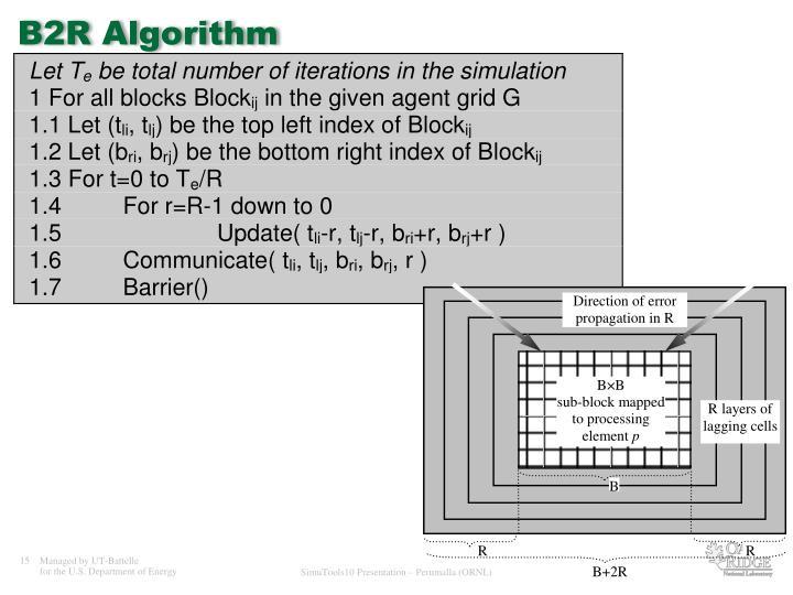 B2R Algorithm