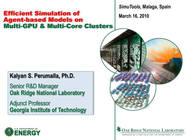Efficient simulation of agent based models on multi gpu multi core clusters