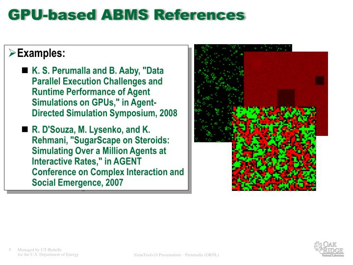 GPU-based ABMS References