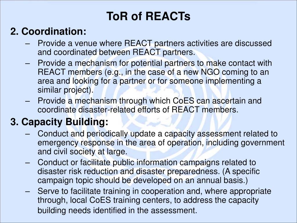 2. Coordination: