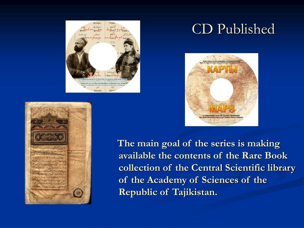 CD Published