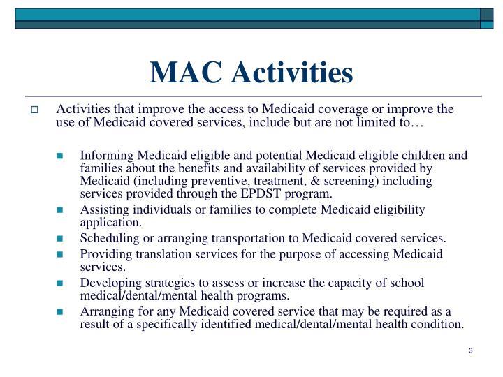 MAC Activities