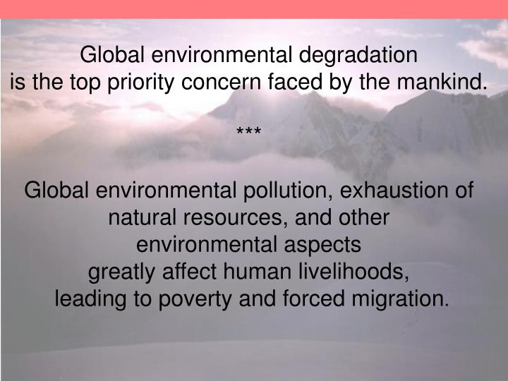 Global environmental degradation